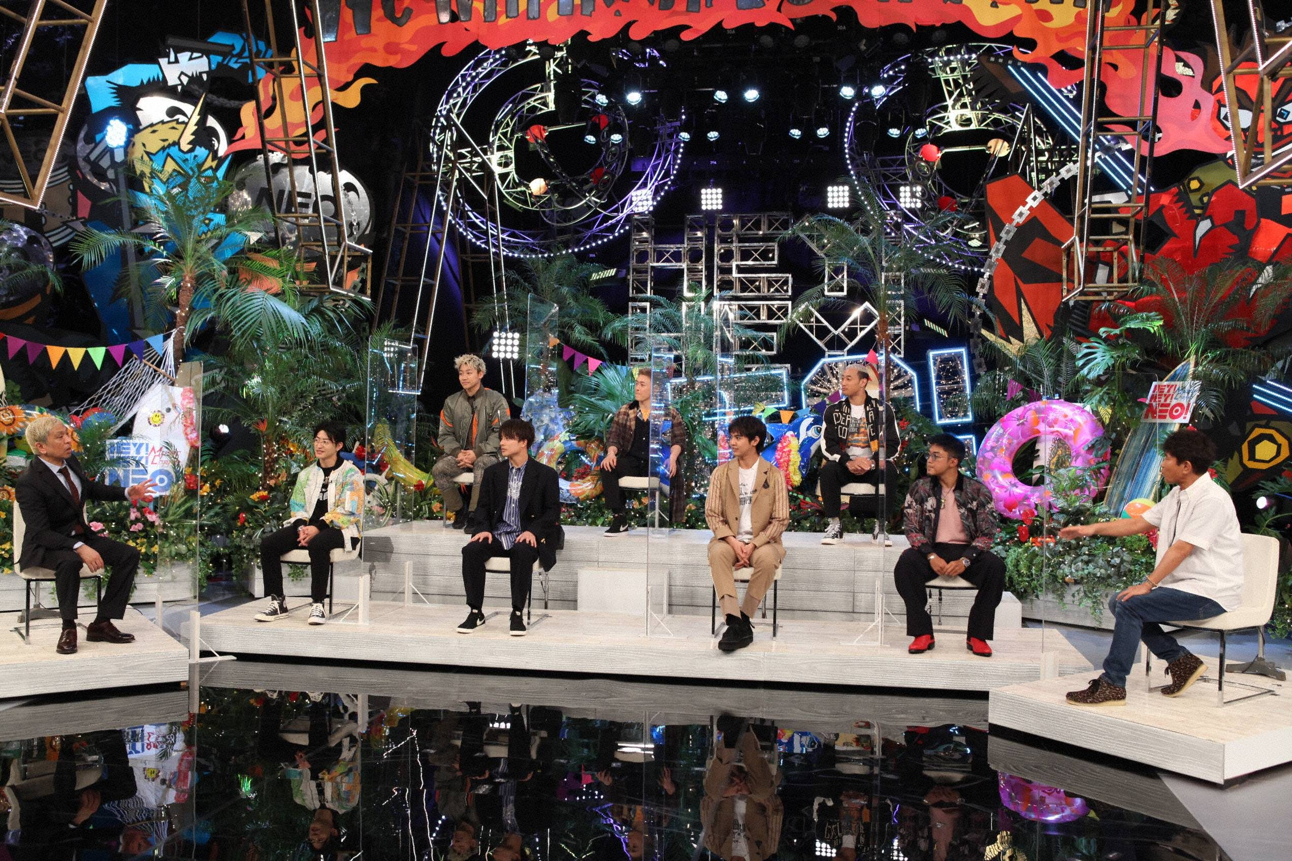 『HEY!HEY!NEO! MUSIC CHAMP』に出演のダウンタウンとGENERATIONS from EXILE TRIBE