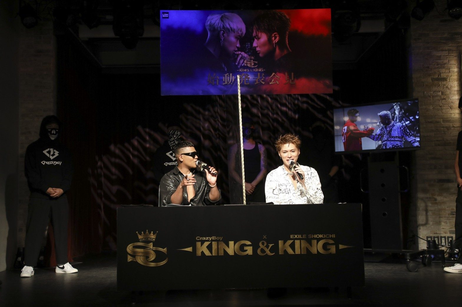 KING&KINGのEXILE SHOKICHI(EXILE/EXILE THE SECOND)とCrazyBoy(ELLY from 三代目 J SOUL BROTHERS)